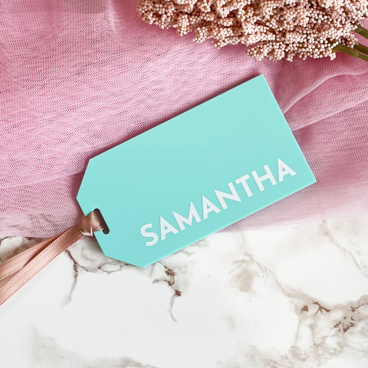 Personalised Name Place Luggage Tag