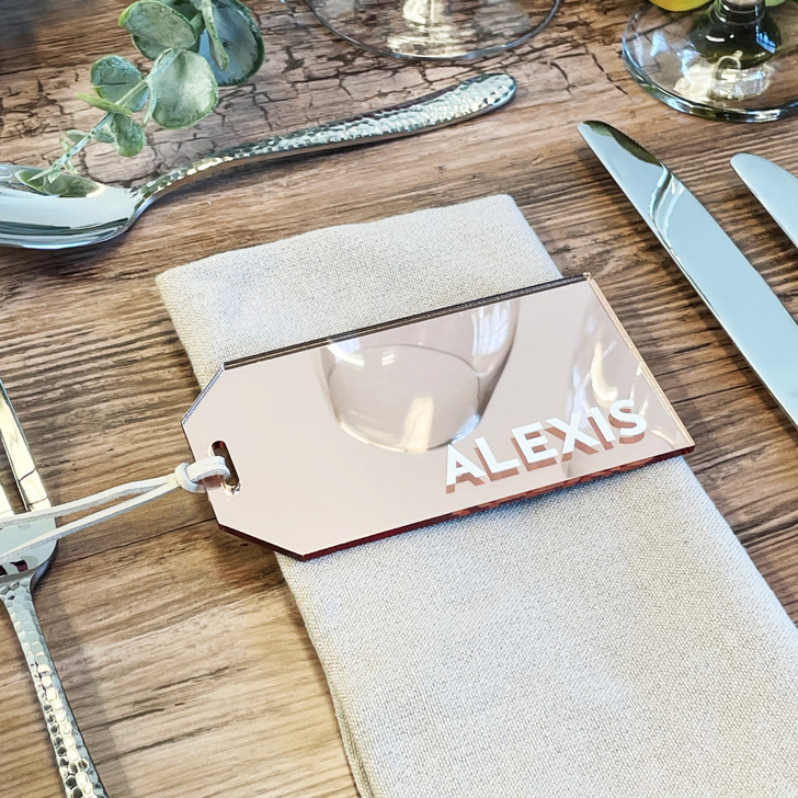 Personalised Acrylic Name Place Luggage Tag