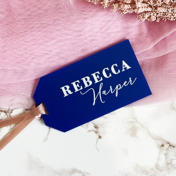 Custom Wedding Name Place Luggage Tag Favours