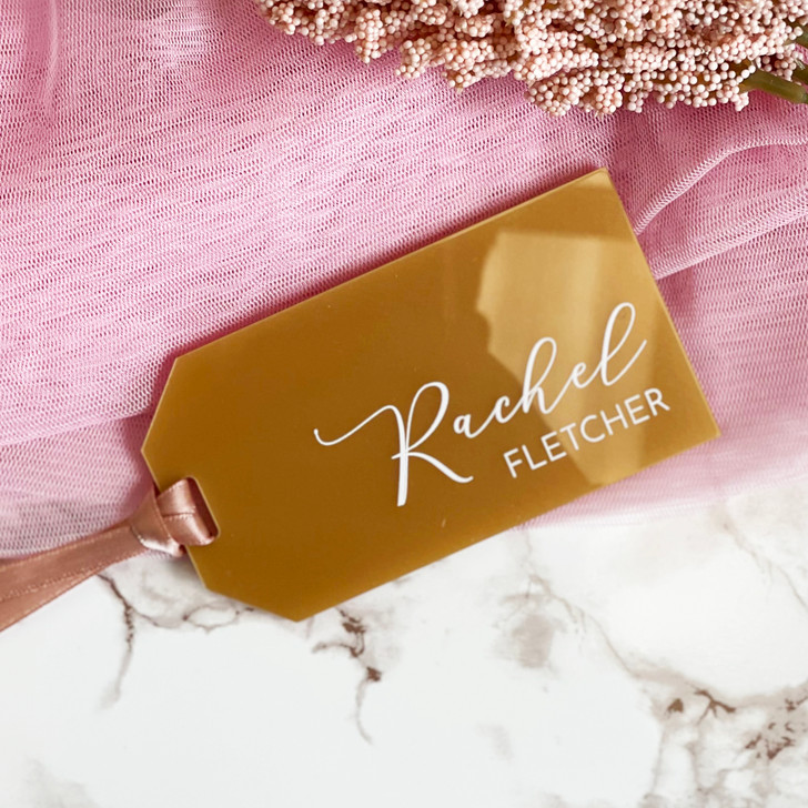 Personalised Wedding Name Place Luggage Tags