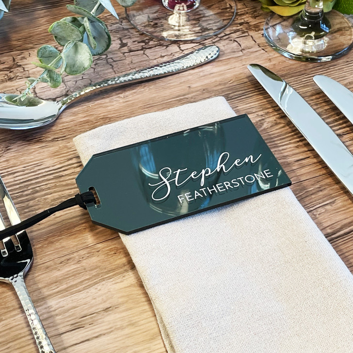 Personalised Wedding Luggage Tag Name Places