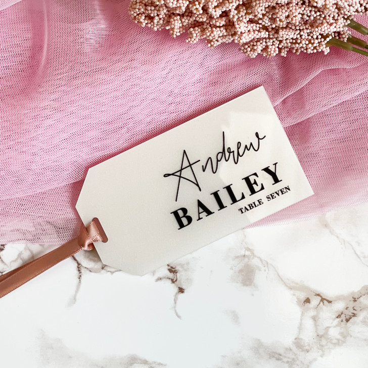 Luxury Modern Name Place Luggage Tags