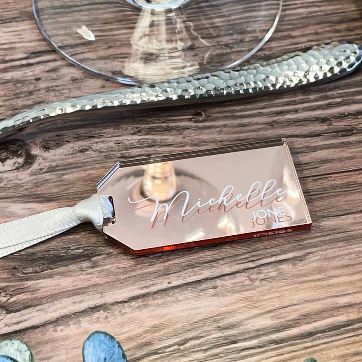 Luxury Mini Acrylic Wedding Favour Luggage Tags