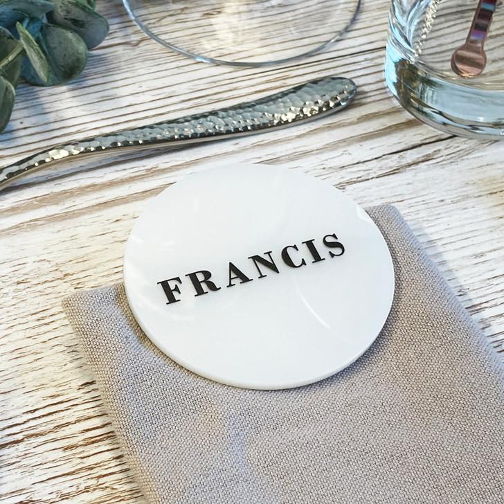 Luxury Acrylic Circle Table Name Place Setting