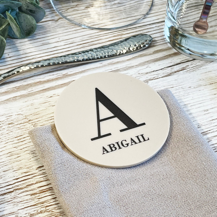 Luxury Initial Name Place Wedding Table Placement