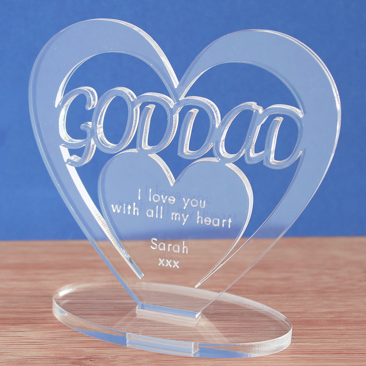 GODDAD Personalised Birthday HEART Plaque Gift For Him Keepsake Ornament Christmas Present