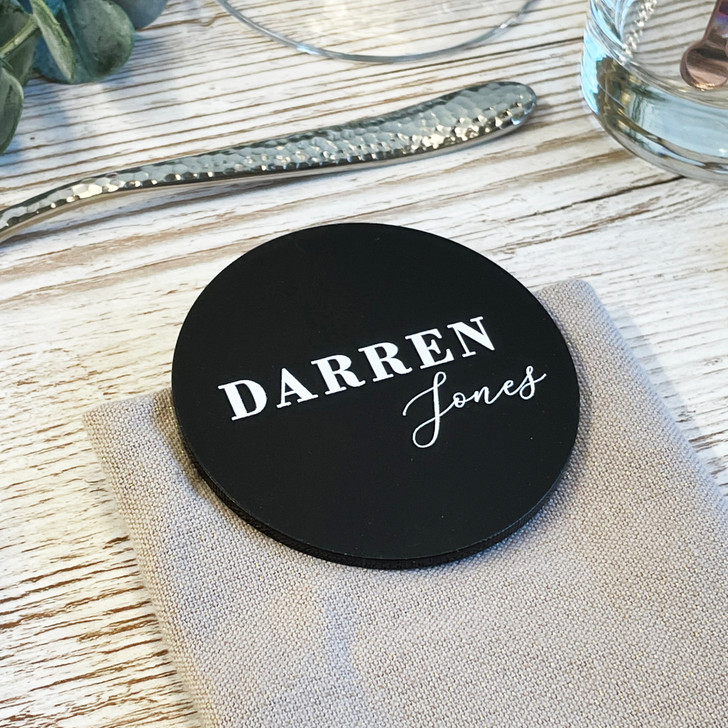 Luxury Wedding Acrylic Name Place Cards - Table Placements