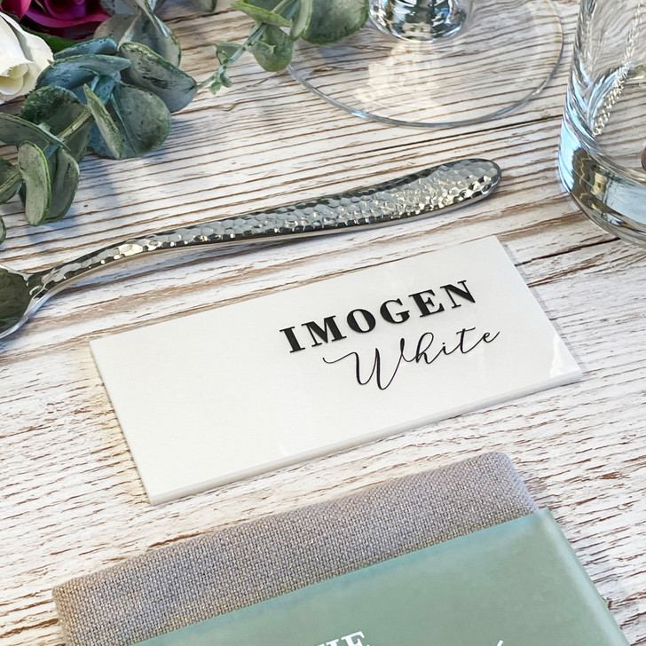 Luxury Name Place Wedding Table Placements