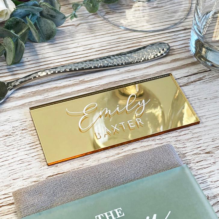 Custom Acrylic Place Names Wedding Table Décor