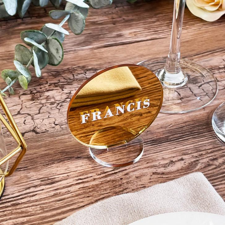 Modern Elegant Freestanding Acrylic Table Place Names