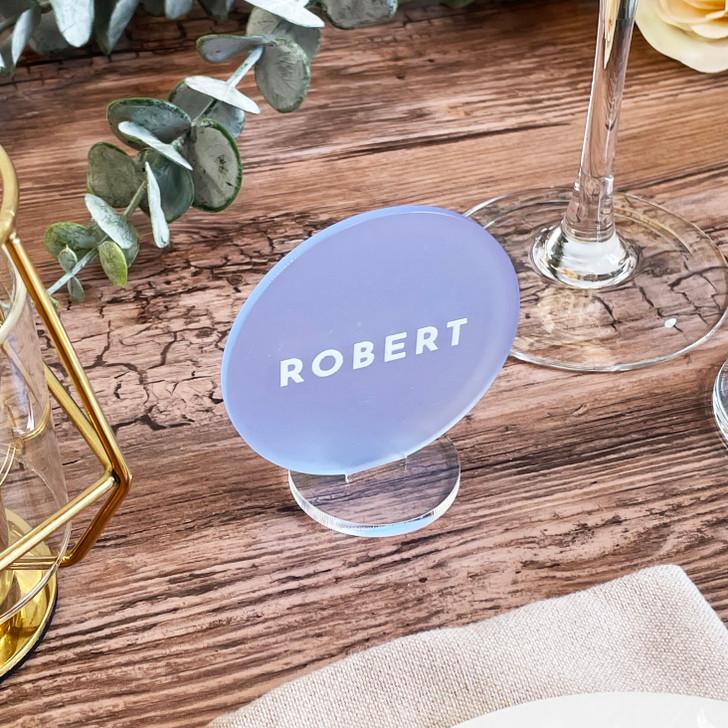 Personalised Acrylic Circle Wedding Place Names
