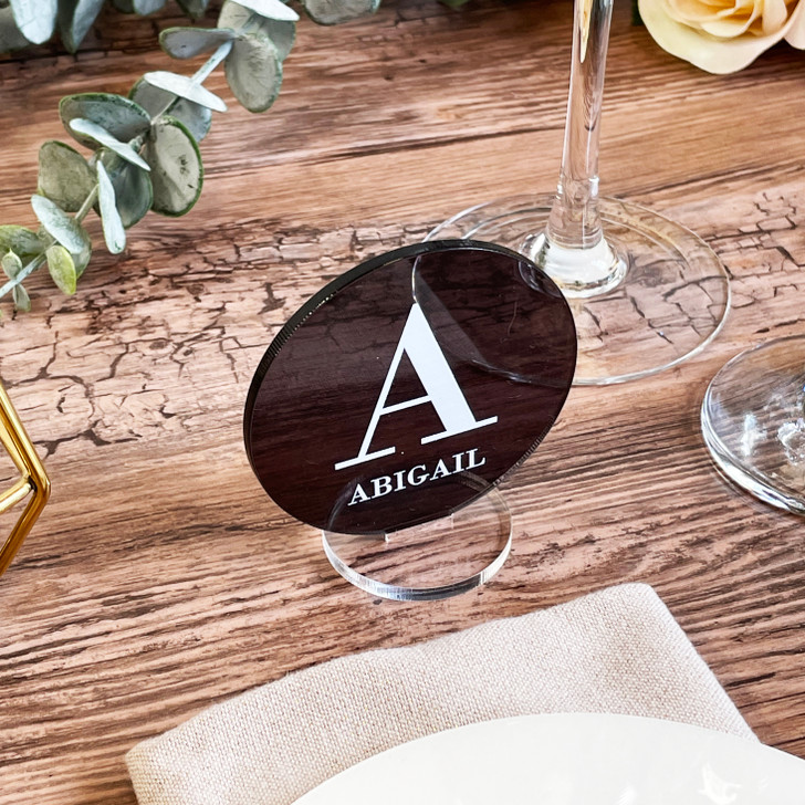 Luxury Freestanding Initial Name Place Wedding Table Setting