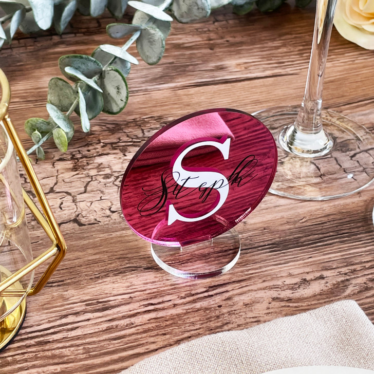 Luxury Acrylic Monogram Freestanding Wedding Name Places