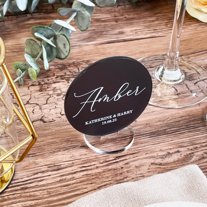 Modern Lettering Freestanding Name Place Cards