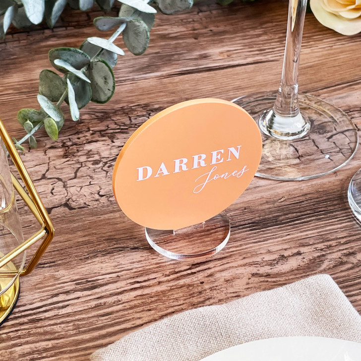Luxury Wedding Acrylic Name Place Cards - Freestanding Table Placements