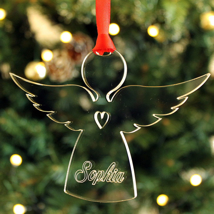 Personalised Angel Keepsake Christmas Tree Bauble Decoration