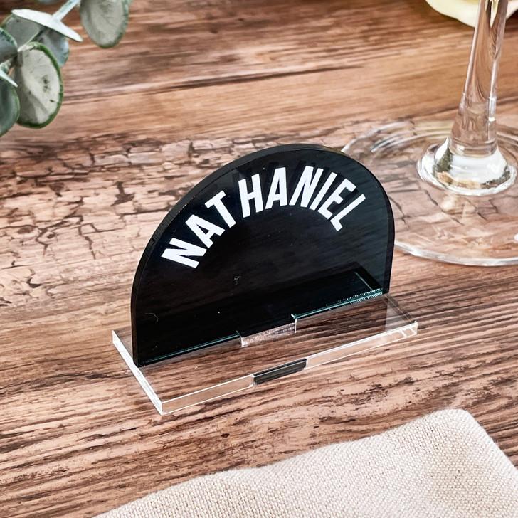 Luxury Freestanding Modern Wedding Name Place Cards
