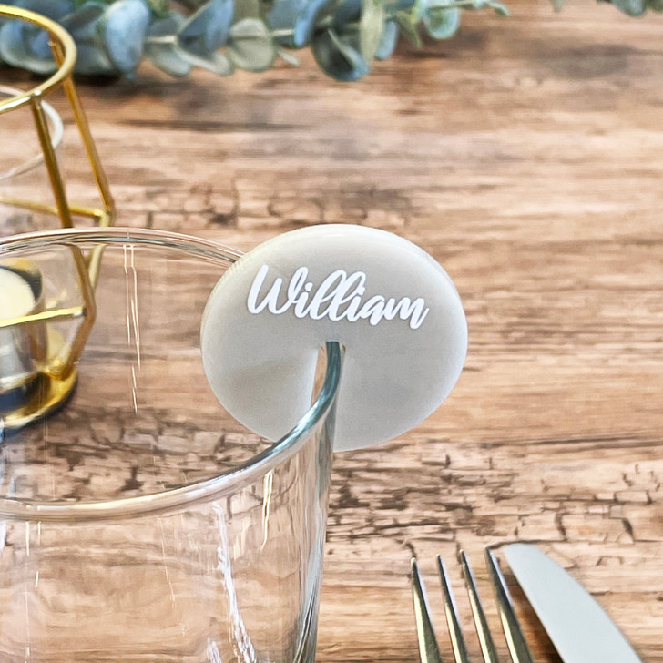 Luxury Modern Drink Name Place Charm Wedding Event Décor
