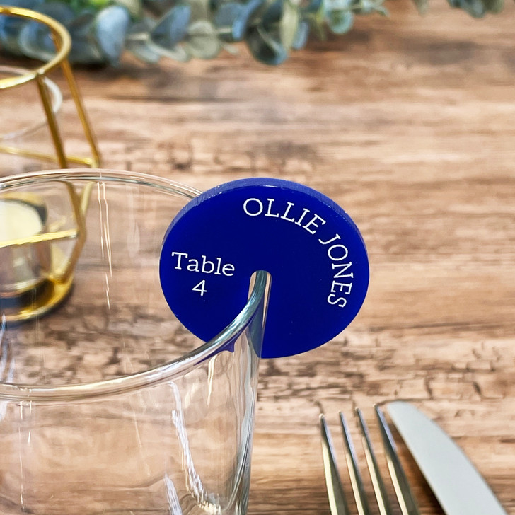 Wedding Wine Glass Name Place Drink Charms Table Settings