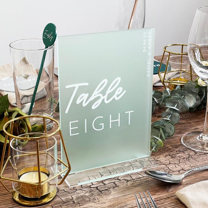 Modern Freestanding Acrylic Wedding Table Number Sign