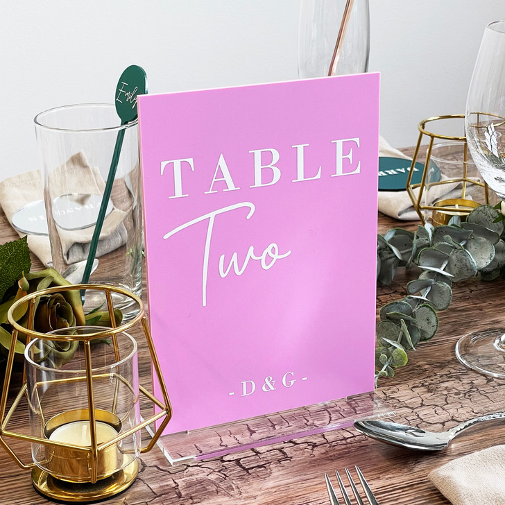 Personalised Monogram Initials Wedding Table Number Sign