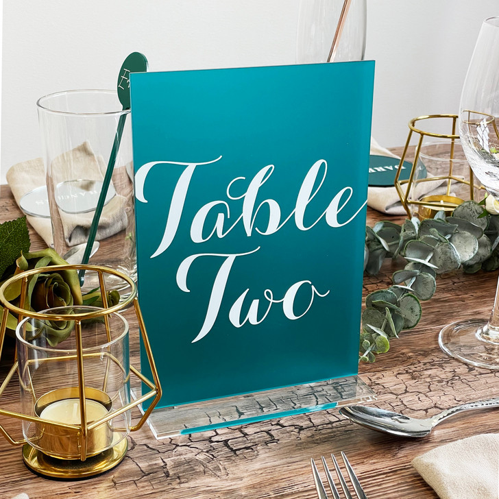 Luxury A5 Wedding Décor Table Number Sign With Stand