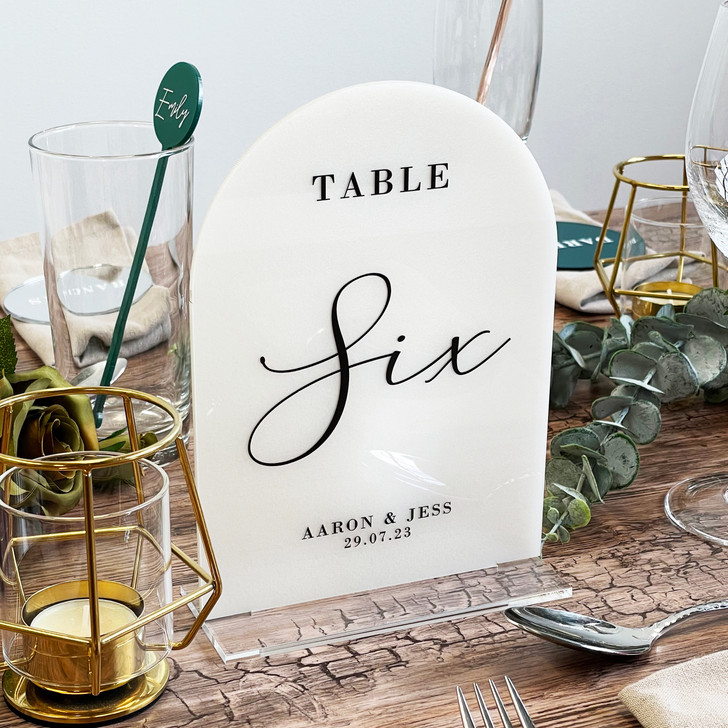 Luxury Elegant Acrylic Table Number Sign for Weddings