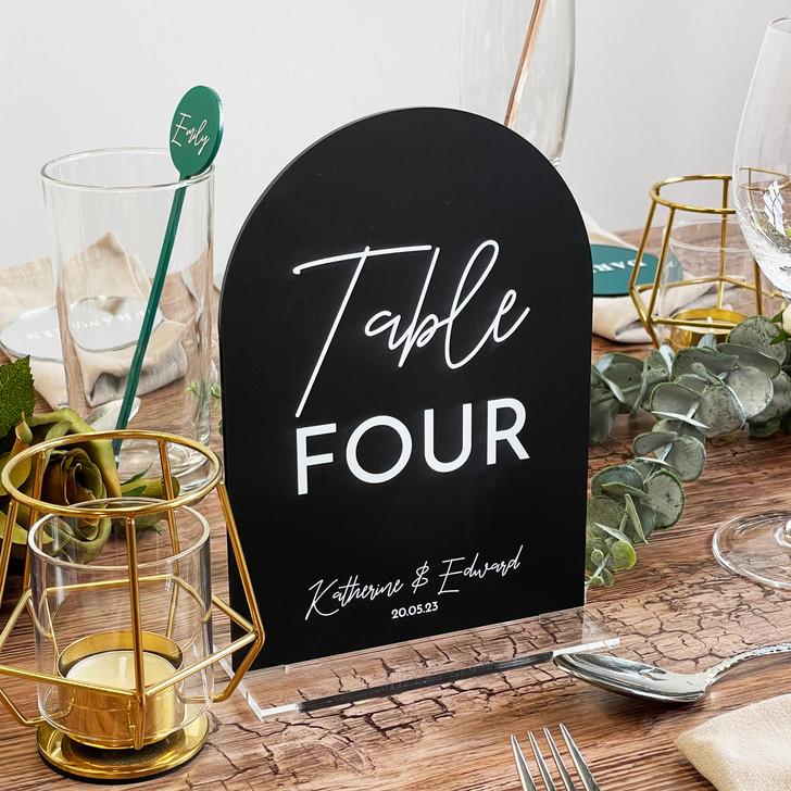 Luxury Freestanding Acrylic Wedding Table Number Signs