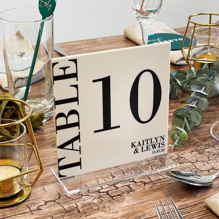 Luxury Modern Wedding Acrylic Table Number Signs