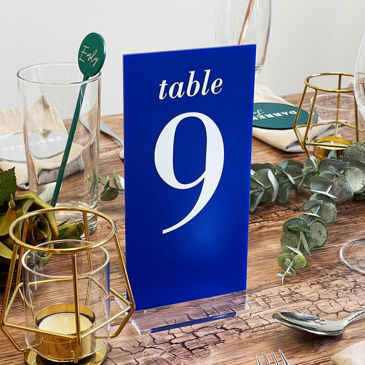 Luxury Slim Freestanding Wedding Table Number Sign