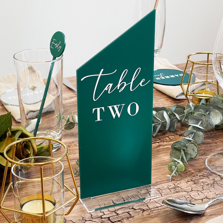 Custom Wedding Décor Table Number Sign in Stand