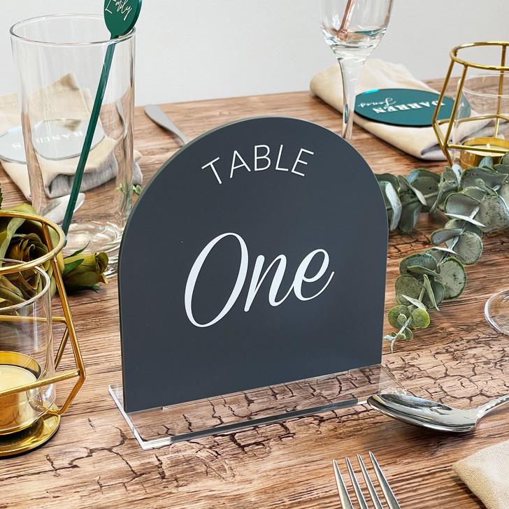 Modern Freestanding Acrylic Table Numbers for Weddings