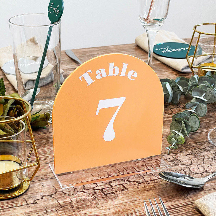 Freestanding Acrylic Wedding Décor Table Number Sign