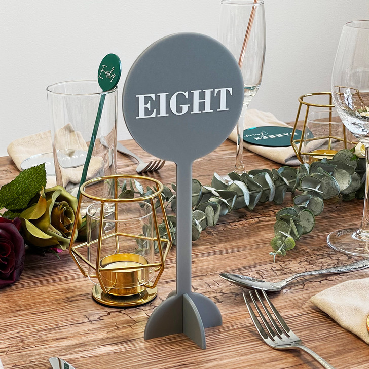 Luxury Table Number Lollipop Signs for Weddings and Events