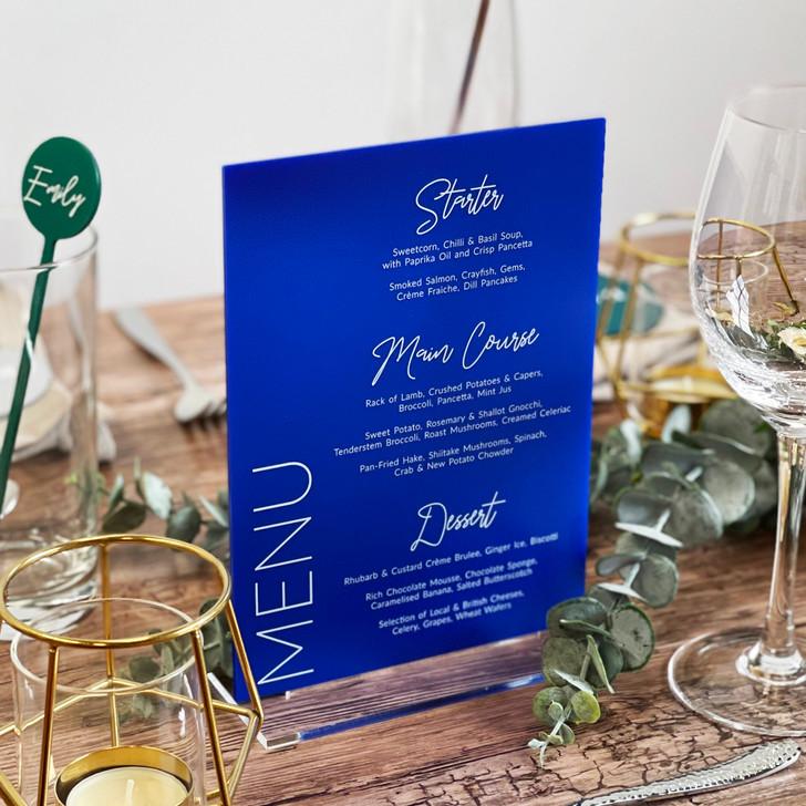 Luxury Acrylic Wedding Table Menu Sign