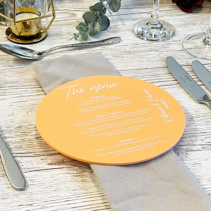 Personalised Wedding Menus - Luxury Table Food Menu Cards