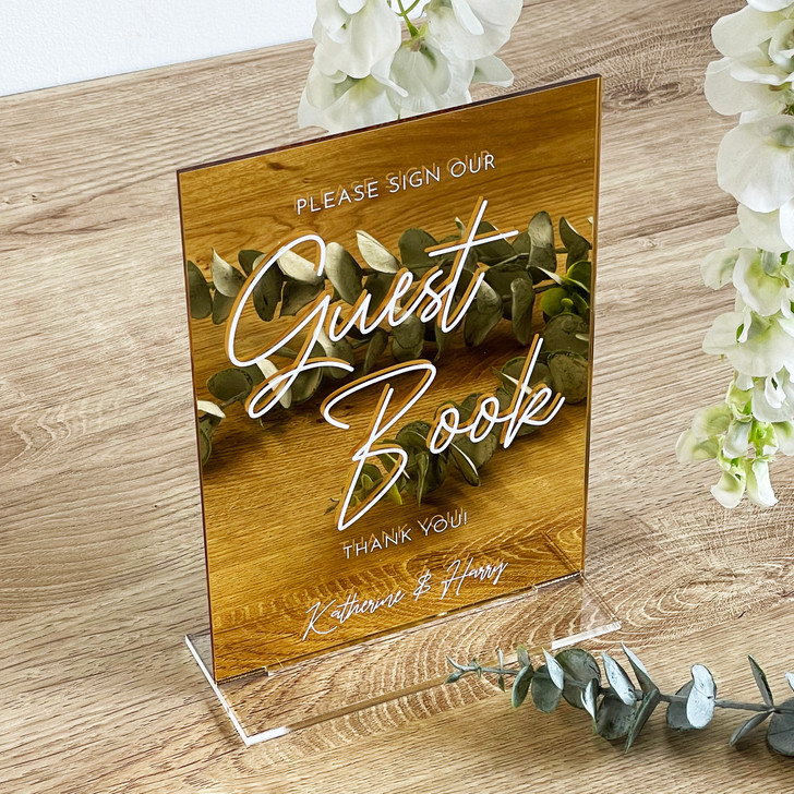 Luxury Acrylic Sign Our Guest Book Sign for Wedding Reception