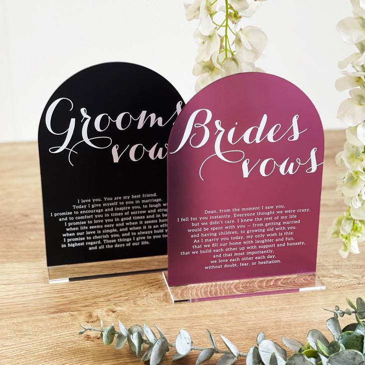 Wedding Vow Board Marriage Keepsake Sign