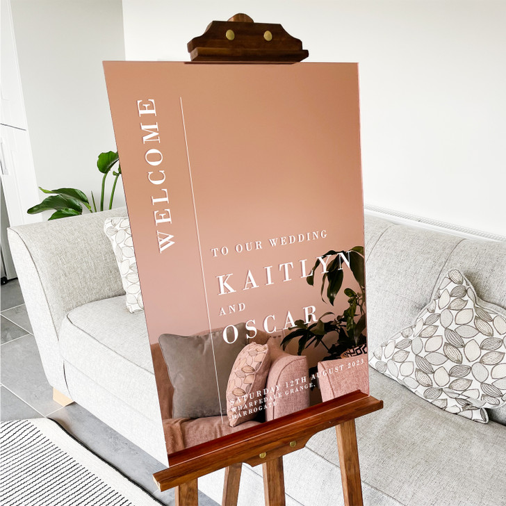 Luxury Wedding Reception Personalised Welcome Sign