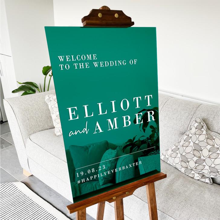 Luxury Minimalist Acrylic Welcome Sign for Wedding Ceremony
