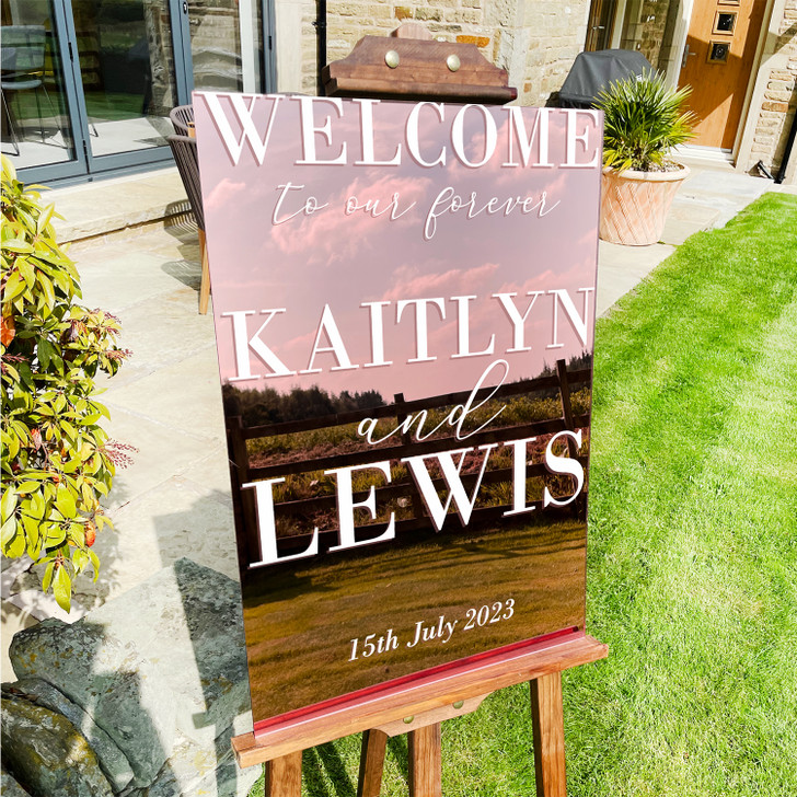 Elegant Large Wedding Ceremony Welcome Sign