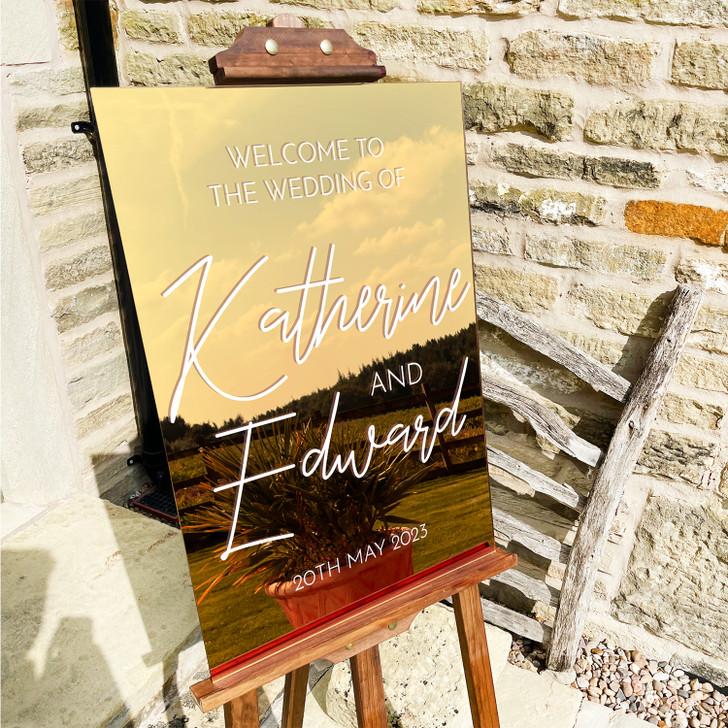 Luxury Bespoke Acrylic Wedding Welcome Sign