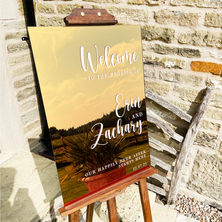 Modern Luxury Acrylic Welcome To Our Wedding Sign