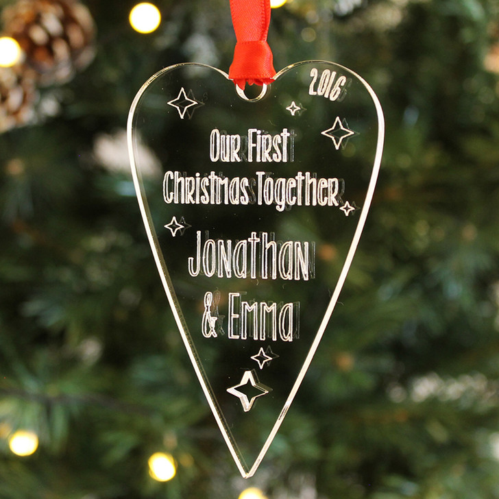 Personalised Our FIRST CHRISTMAS TOGETHER Bauble, Couples Xmas Decoration Gift