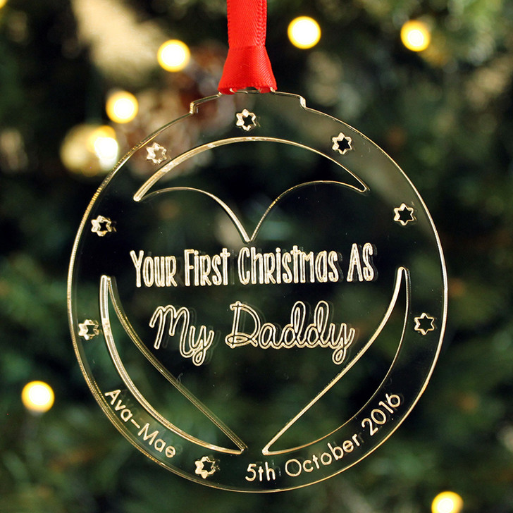 First Christmas As My Mummy or Daddy Personalised Xmas Tree Decoration