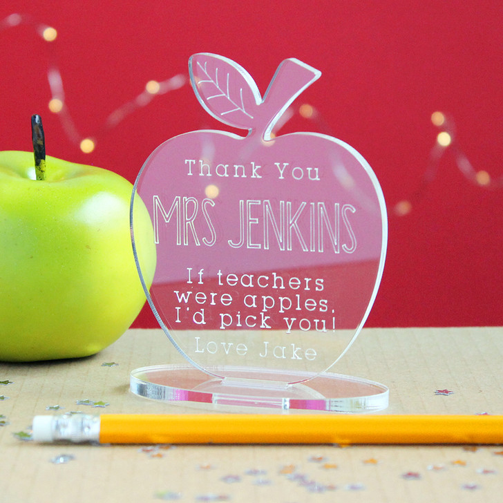 Personalised Teacher Apple Thank You Gift, If Teachers Were Apples I'd Pick You