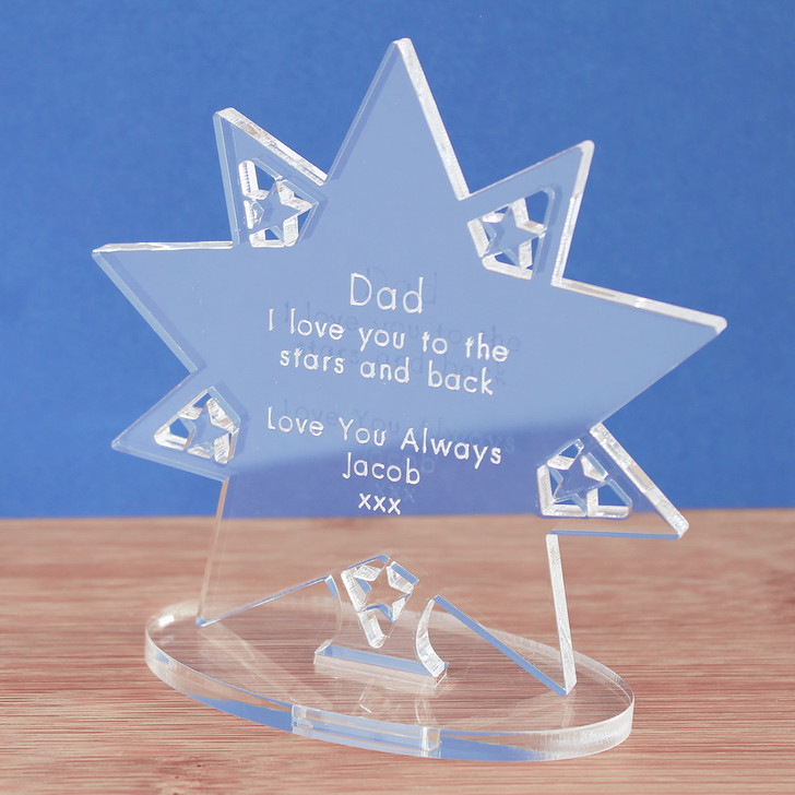 "Dad Personalised ""Stars And Back"" 