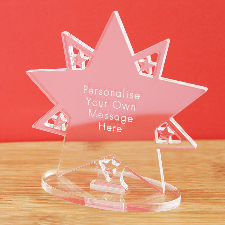 Personalised Star with Message | Keepsake Ornament Award