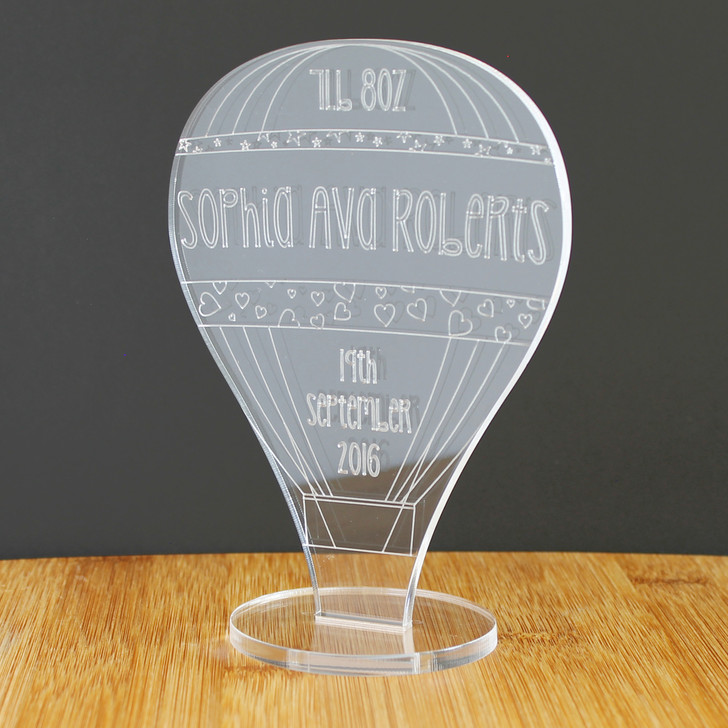 Baby's Personalised Birth Details Hot Air Balloon | Keepsake Ornament