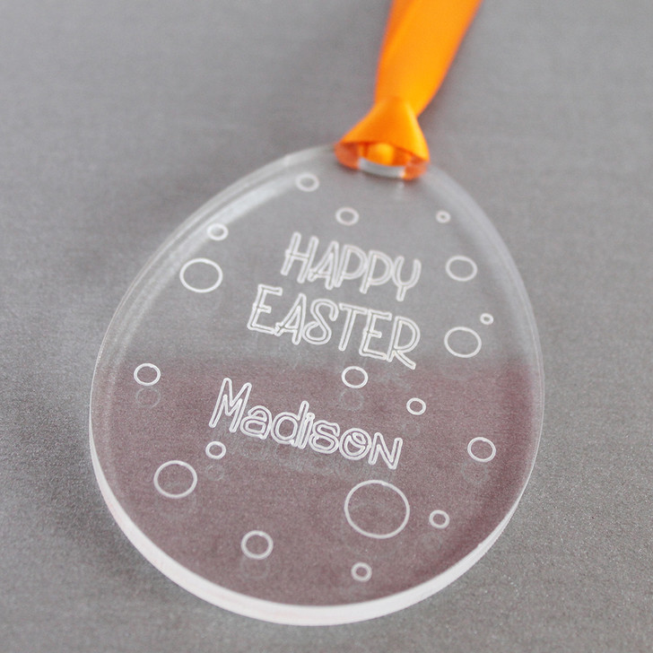 Personalised Easter Egg with Spots | Hanging Keepsake